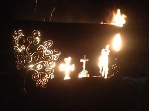 Zombie theme fire pit