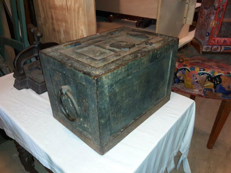 Antique Iron Strong Box Safe