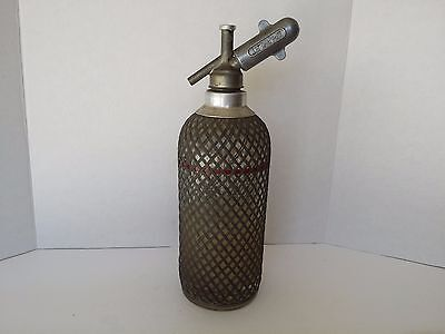 Antique  SPARKLET'S    WATER SODA MAKER SIPHON ART DECO MESH CHAIN LINK SPARKLET