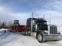 Pete tractor and lowboy for hire