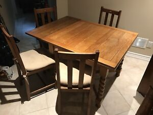 Antique dining set and sideboard