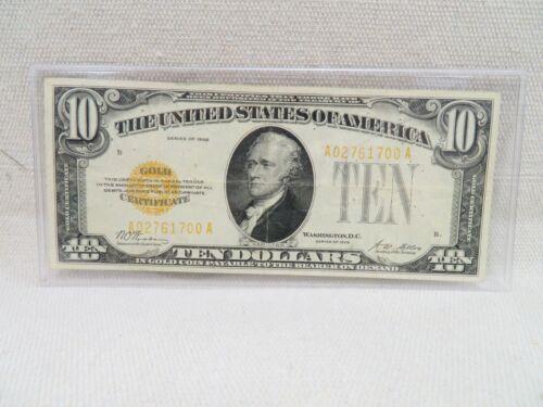1928 $10 GOLD CERTIFICATE NOTE F-2400