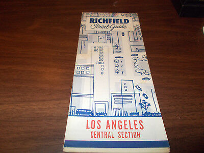 1957 Richfield Los Angeles Central Section Vintage Road Map
