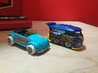 hot wheels volkswagen vw convertable and kool kombi mint condition loose cars...