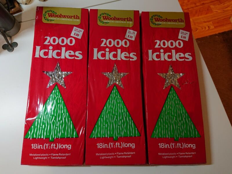 Vintage Woolworth 2000 Icicles Tinsel