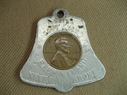 4721 John R St Chesterfield TE2-8368 Good Luck Token Wheat Penny 1956D Key Chain