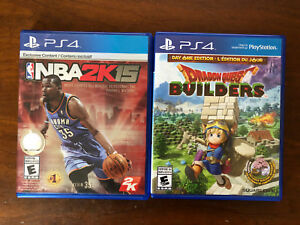 Dragon Quest Builders and NBA 2k15 for ps4