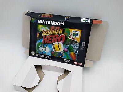 Bomberman Hero - reproduction box with insert - N64 - Pal or NTSC. HQ !