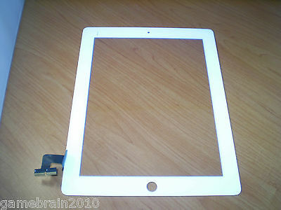 OEM White iPad 2 Touch Screen Front Glass Digitizer! Bad Touch (AS IS)!!