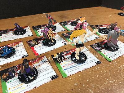 Horrorclix lot of 10 figures/cards Inbreeder Genie Gremlin Voodoo Priest