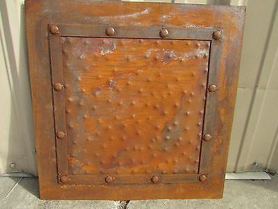 Rustic Iron Hammered Metal Panels-24x24-Handmade-Rust Finish-Furniture -