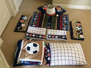 Kids Soccer Theme Bedding Set
