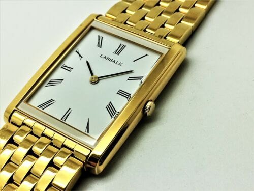 MENS LASSALE by Seiko NOT-WORKING 5Y30-5K7H 22KT GOLD PLATED QUARTZ WATCH CDD014