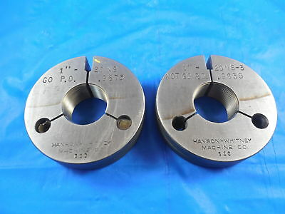 1 20 Ns 3 Thread Ring Gages 1.0 Go No Go P.d.s .9675 .9656 Inspection