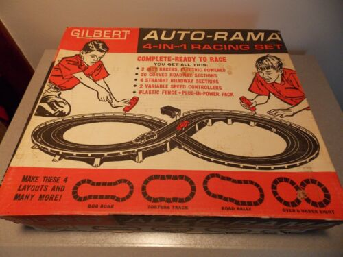 Gilbert Auto Rama Over N Under 8 Racing Set RARE!