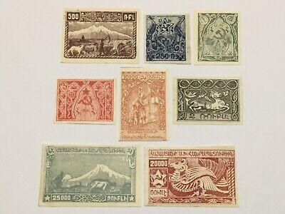 old stamps  ARMENIA     x  8