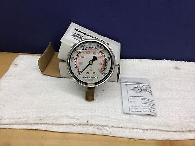 Enerpac Hydraulic Pressure Gauge 10000 Psi Or 700 Bar With 14 Npt G2535l