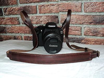 Vintage Echt Leder DSLR Kamera Tragegurt Trageriemen Leather Camera Strap Canon