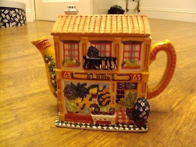 WESTERN HOUSE - ANNIE ROWE - THE VILLAGE COLLECTABLES NOVELTY TEAPOT BLOOMS 63