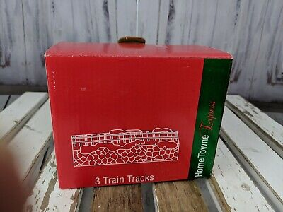 Vtg village Xmas home Towne express train JCPenney set straight track