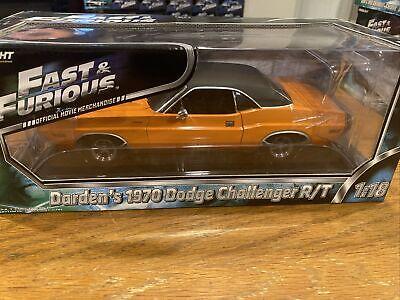 1:18 Fast Furious 1970 Dodge Challenger R/T Orange