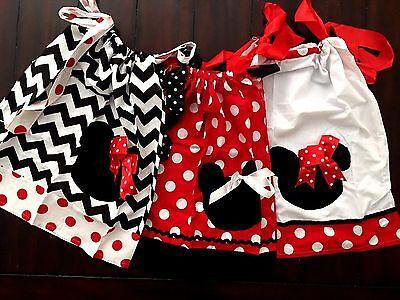 Minnie Mouse Pillow Dress Party Disney Birthday Chevron Polka Dot Sizes 2T-5T