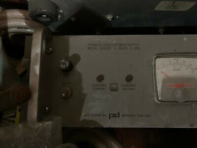 Power Design Pd 36100r Transistorized Power Supply 0-36vdc 0-10a