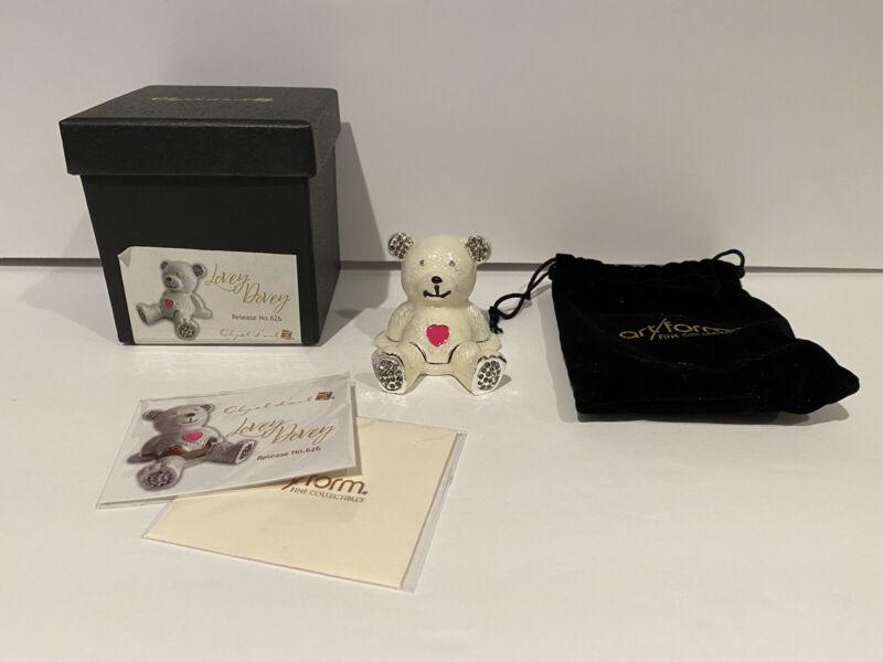 Objet d'Art Lovey Dovey Trinket Box Release #626 Teddy Bear Trinket Box NEW!