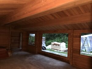 Panabode western red cedar log home
