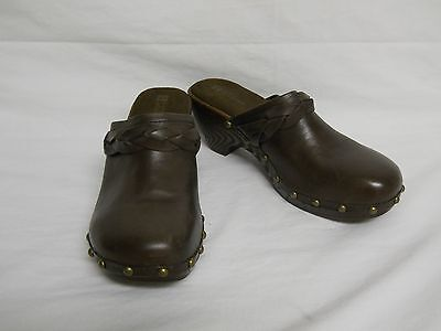 White Mountain New Womens Ginko Dark Brown Mules 8 M Shoes NWOB