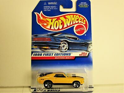 HOT WHEELS 1970 FORD MUSTANG MACH 1 FASTBACK FIRST EDITIONS NEW IN PACKAGE NICE