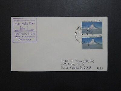 Australian Antarctic Terr 1986 MS Nella Dan Expedition Cover - Z8832