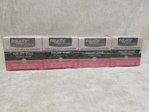 Lot Of 4 Equate Anti Wrinkle Firming Cream Night-Time Cream 2oz Comp. To Olay - $12.95