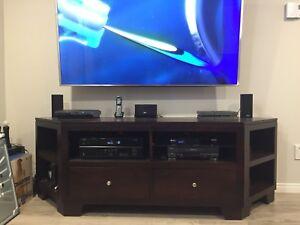 Meuble TV bois cappuccino 50$