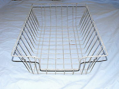 Old Industrial Vtg Metal Wire Office Desk Top File Paper Basket Storage Bin