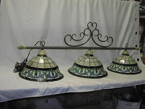 stained glass pool table light ebay. Black Bedroom Furniture Sets. Home Design Ideas