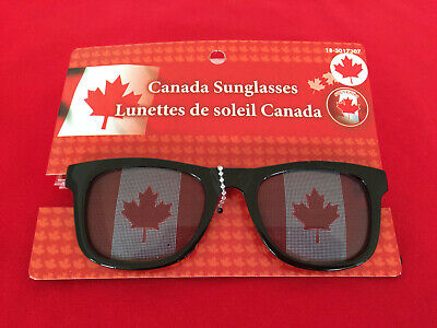 Canada Novelty Sunglasses. Red and white maple leaf flags! Ships fast from (Sunglass Canada)