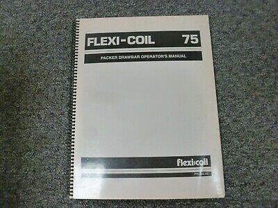 Flexi-coil S75.b S75 Packer Drawbar Parts Catalog Owner Operator Manual