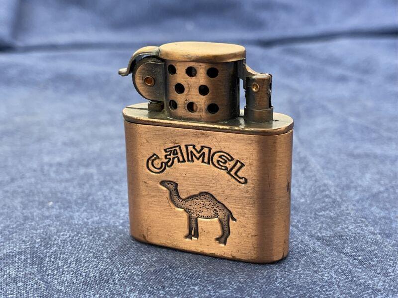 Vintage Camel Lighter Copper Tone Sparks Z465