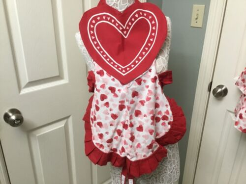 Celebrate Valentine's Day Together Childs Heart Apron NWT