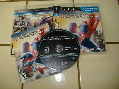 PS3 The AMAZING SPIDER-MAN with Booklet & Case * Used