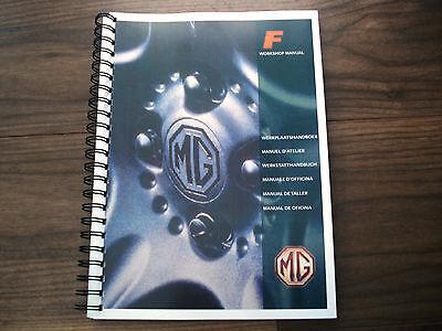 ~ PRINTED~ MGF  Workshop Manual with BONUS Gearbox & Engine Manuals