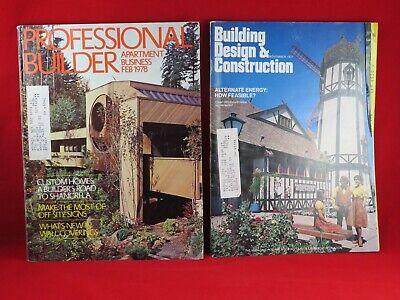 Vintage 1977 Building Design And Construction Magazine