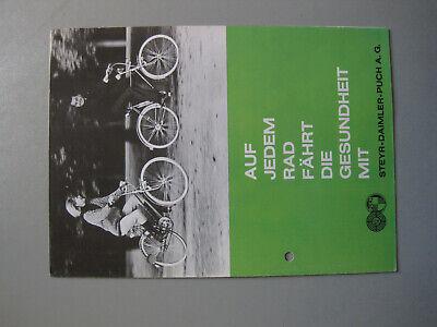 L807: Steyr Daimler Puch Fahrradprospekt 8 Seitig 1965