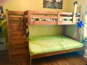 Bunk bed with staircase BUG FREE & SMOKE FREE