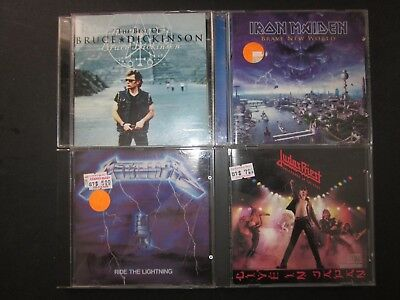 4 CDs,Best of Bruce Dickinson,Iron Maiden Brave New World,Judas