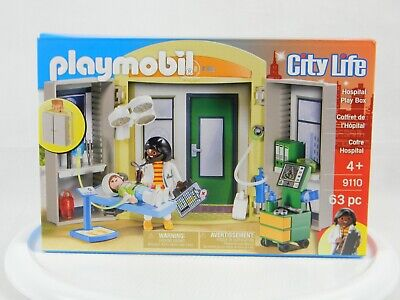 New Playmobil*City Life*#9110*Hospital Play Box*63 Pieces*new In box*age 4+