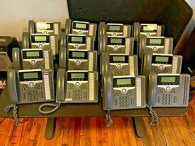 Cisco Cp-7861 Unified Ip 16-line Business Office Phones W Stand And Handset