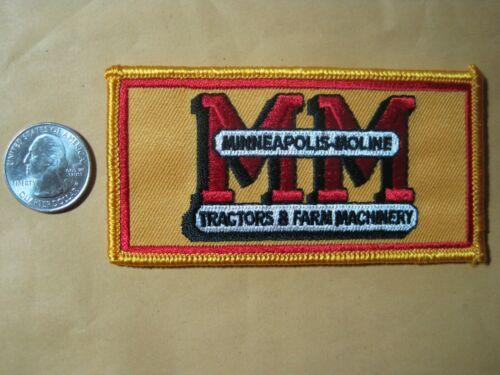 FARM TRACTOR PATCH MM MINNEAPOLIS MOLINE LOGO BEST ON EBAY NOT CHEAP / FLIMSY!!
