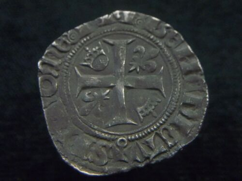 "Silver Blanc of French king Charles VI ""The Mad"" 1380-1422 AD, CC8283"